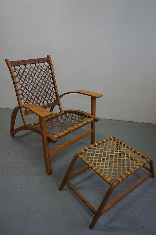 Carl Koch Sno-Shu chair and ottoman