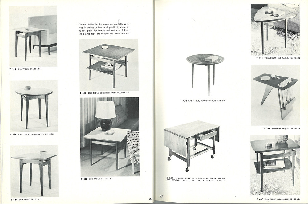 Jens Risom barcart coffee table