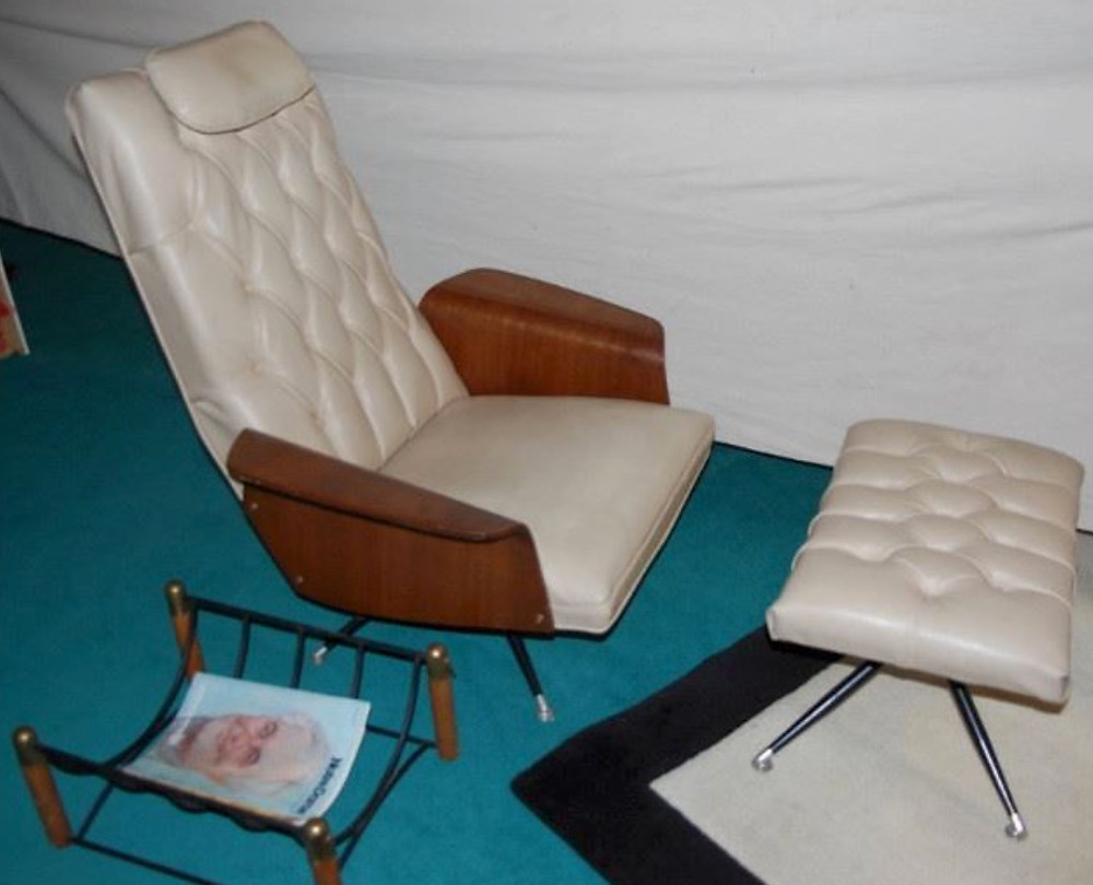 Murphy Miller lounge chair and ottoman