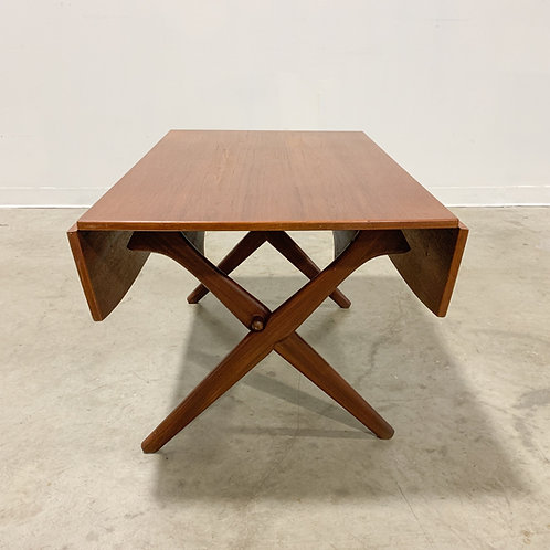 Danish modern teak convertible table
