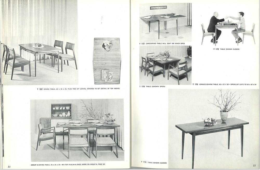 vintage Jens Risom dining table