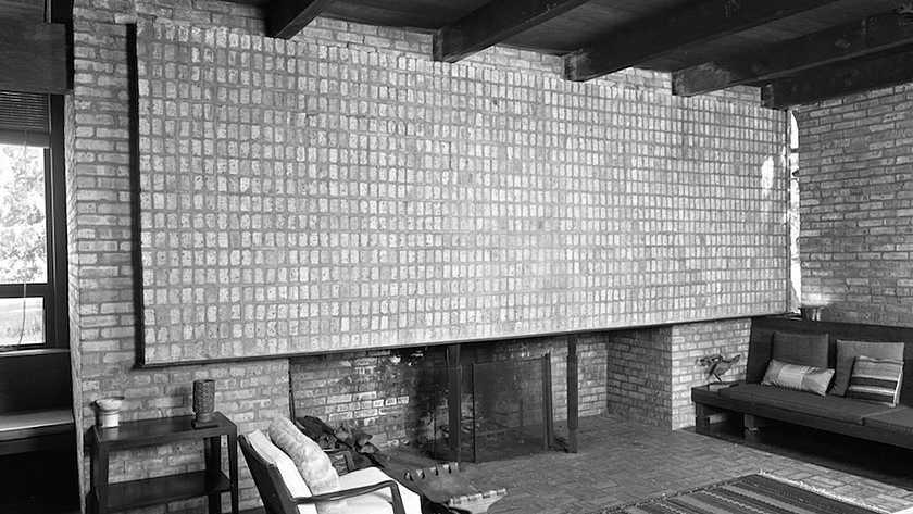 mid-century modern fireplace