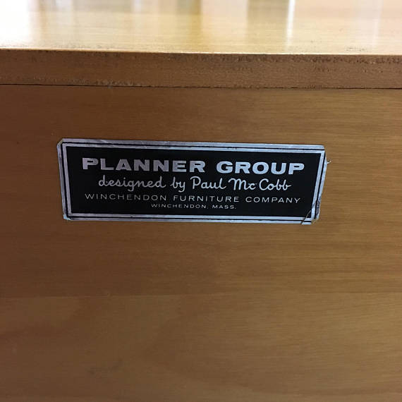 Paul McCobb Planner Group label Winchendon, Mass.