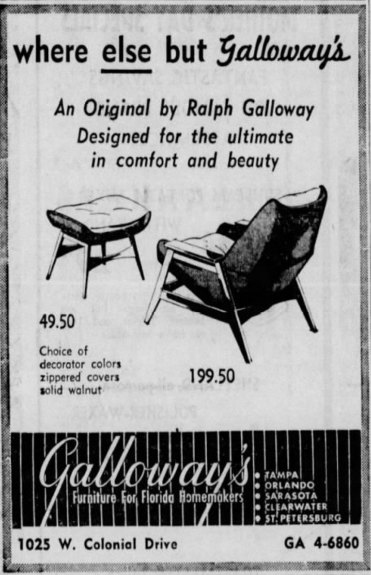 Galloway's original chair design