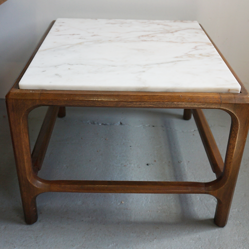 Marble top mid century side tables
