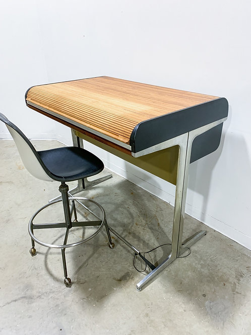 Rare George Nelson Drafting table with Eames drafting stool