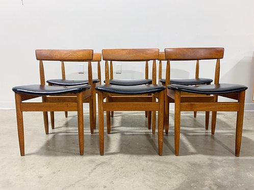 6 Hans Olsen Teak dining chairs
