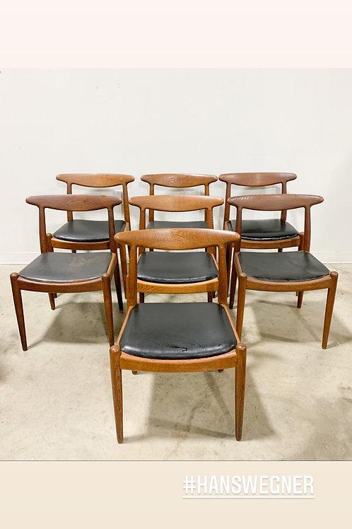 Early Hans Wegner W2 Danish Modern dining chairs