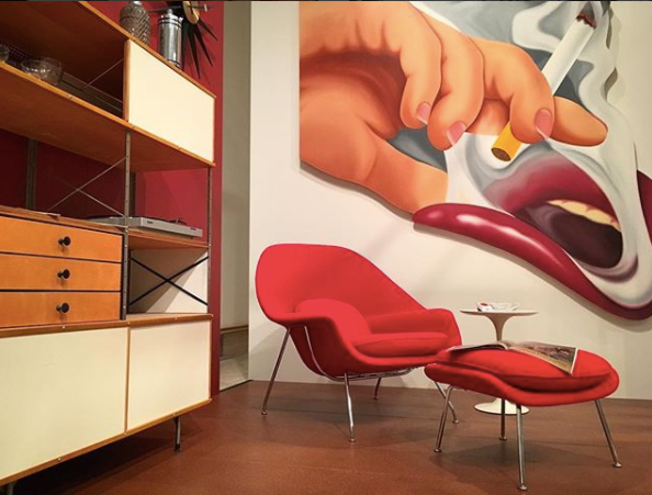 red mid century modern colors