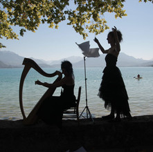 Au bord du lac avec Julia.