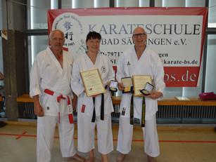 Drei Ehrungen für die Karateschule Bad Säckingen