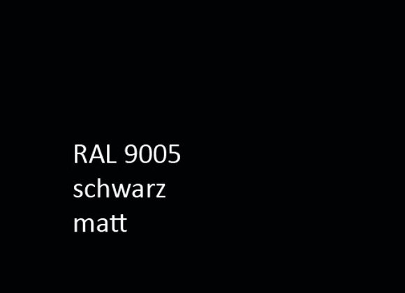 Pulverlack RAL matt 9005 schwarz  1,0 kg