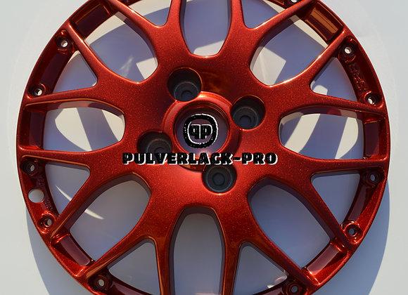 PULVERLACK-CFX-Pro Lasur Garnet Red 1,0 kg glatt/glänzend