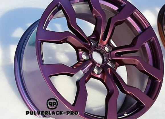 PULVERLACK-CFX-Pro DemonRedBlue 1,0 kg glatt/glänzend