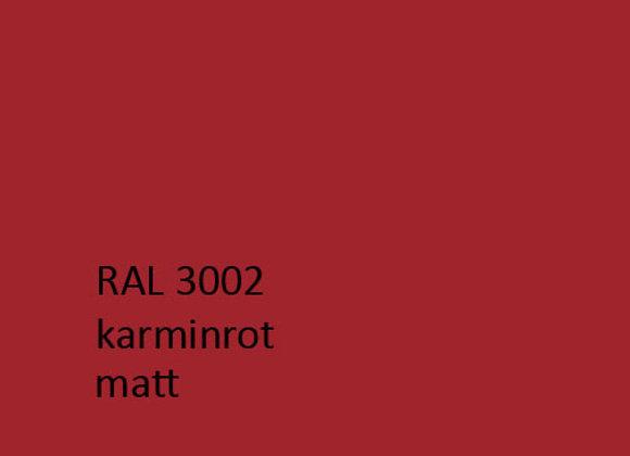 RAL matt 3002 karminrot,  1,0 kg
