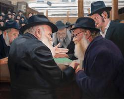 Rebbe with R' Adin Steinsaltz