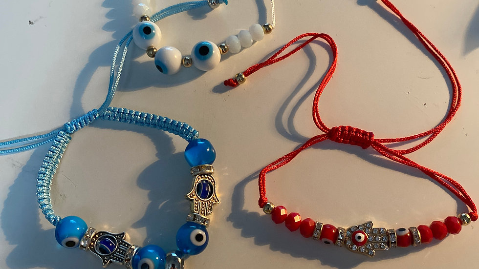 Evil Eye Bracelet (rope style)
