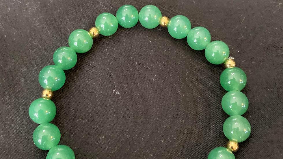 Green averturine bracelet