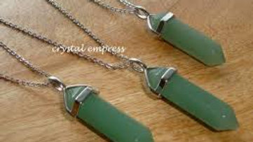 Crystal Point Chakra Necklaces GREEN AVENTURINE