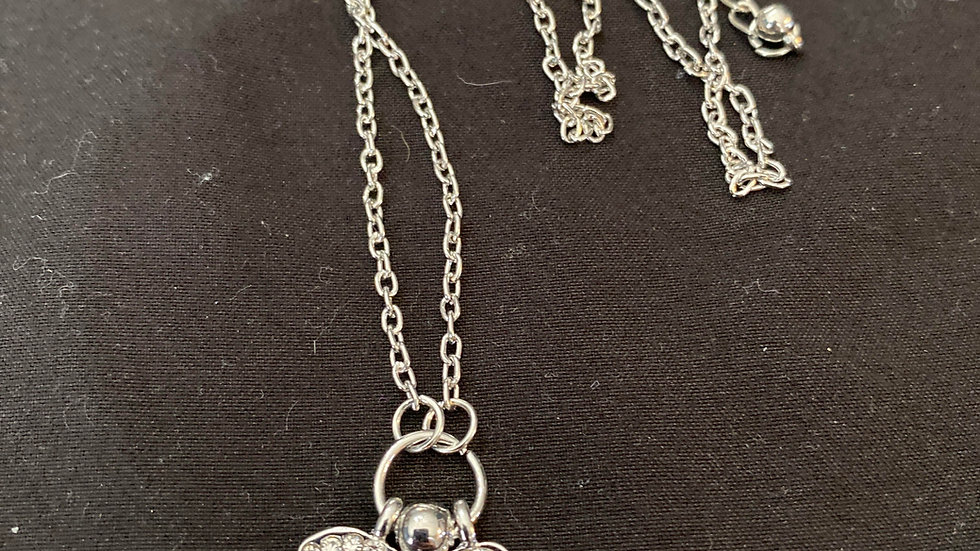 Evil eye and hamsa silver plated necklace CLOSE OUT SALE
