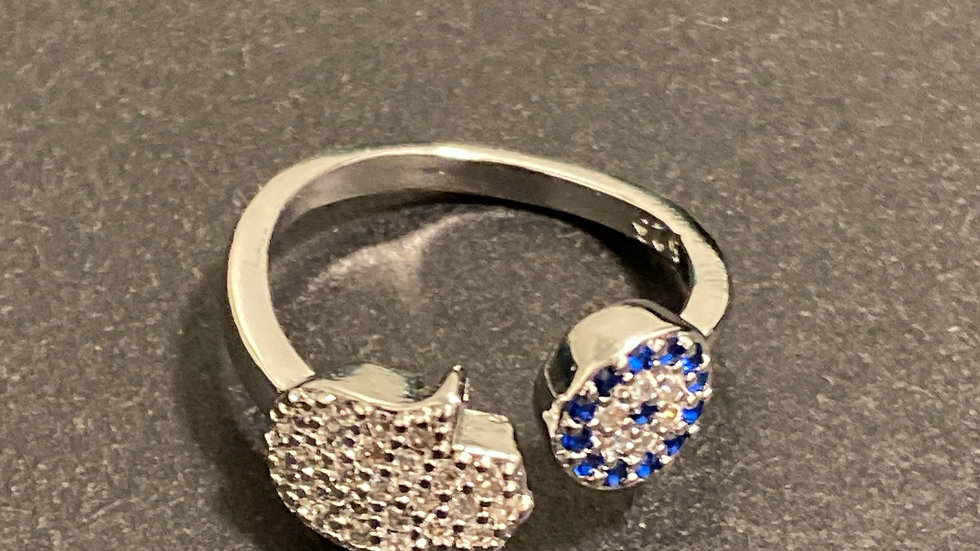 New! 925 Sterling Silver ring. adjusts from size 6-10