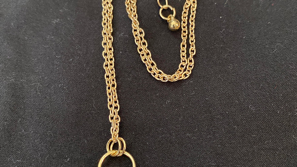 Evil eye and hamsa gold plated necklace