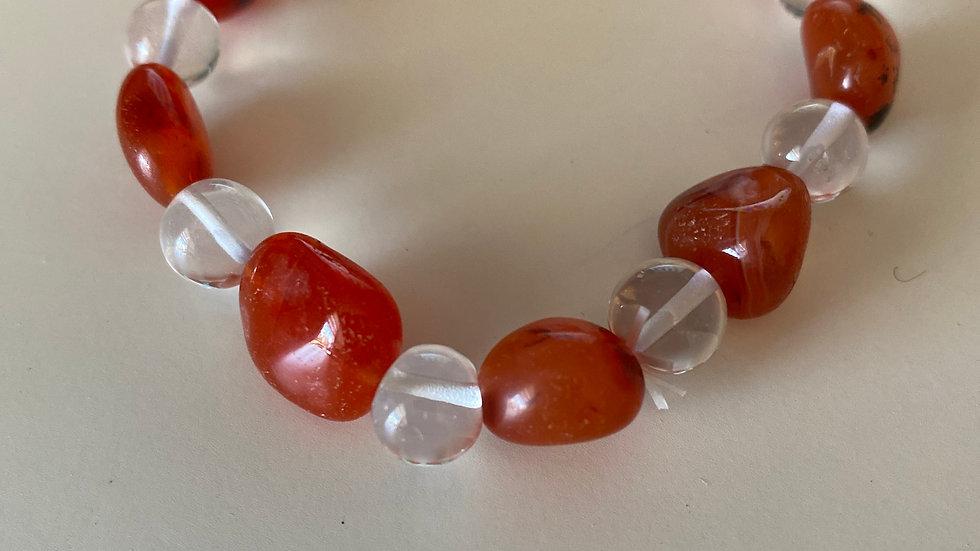 Red Jasper polished stone bracelet