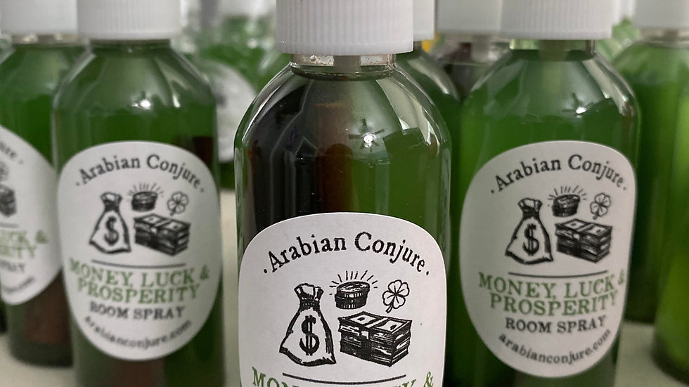4oz bottle of Money, Luck, and prosperity Room spray ready to ship