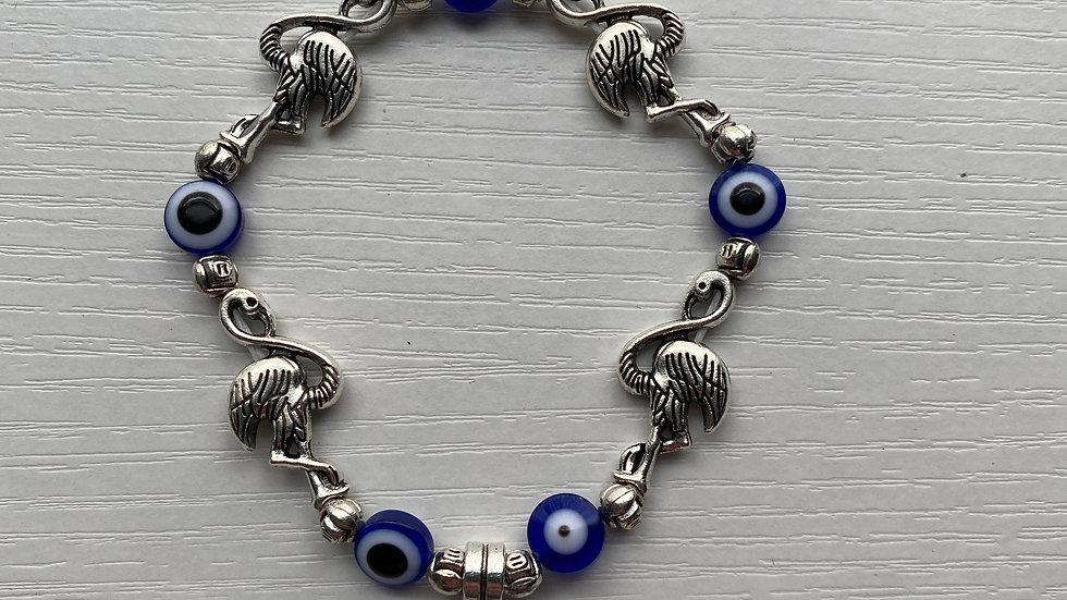 Evil eye, Hamsa Flamingo bracelet