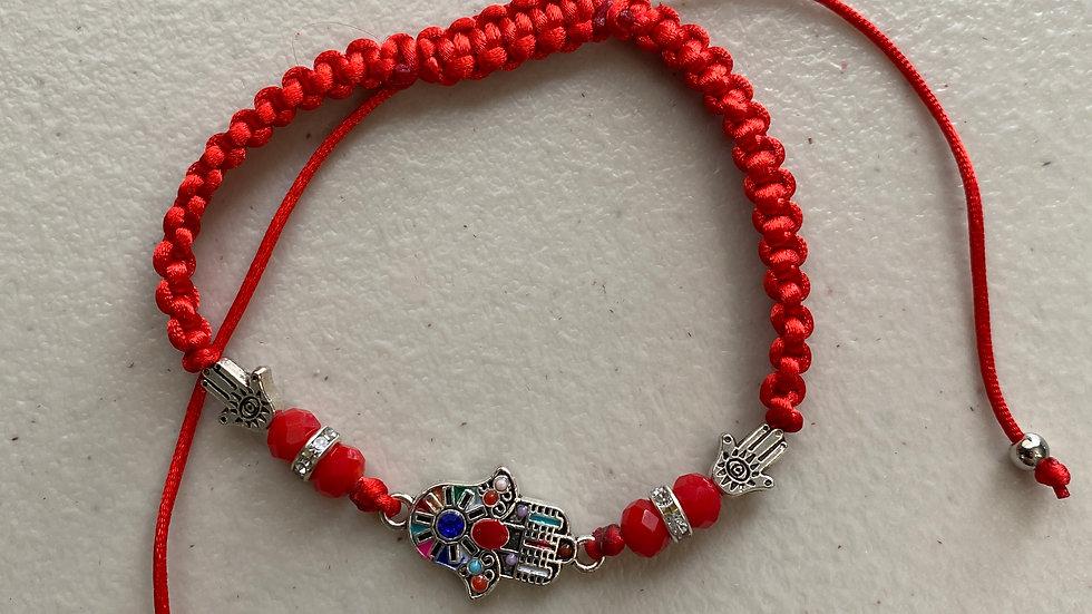 New!! Thick braided Hamsa hand and evil eye rope bracelet styles.