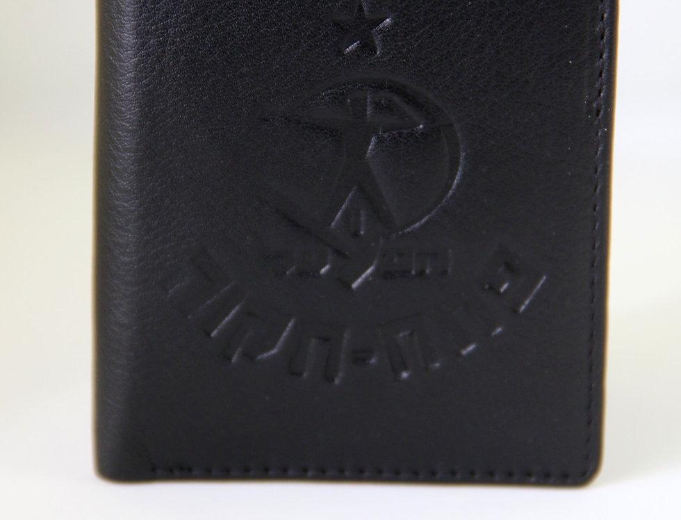 ארנק עור עם סמל הפועל פתח תקוה