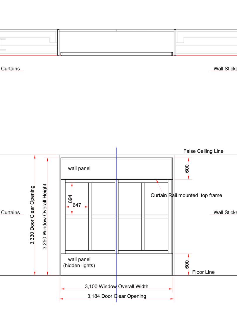 Window structure plan