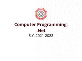 Computer Programming 12 (.Net)