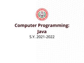 Computer Programming 12 (Java)