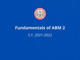 Fundamentals of ABM 2