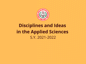 Disciplines and Ideas in the Applied Sciences