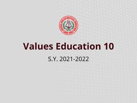Values Education 10