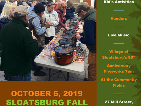 Celebrate Sloatsburg and the Changing SeasonChamber Fall Block PartySunday, October 6, from 12 p.m