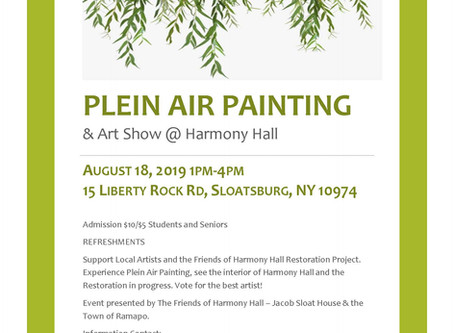 Plein Air Painting Painting Event at Harmony Hall-Jacob Sloat House