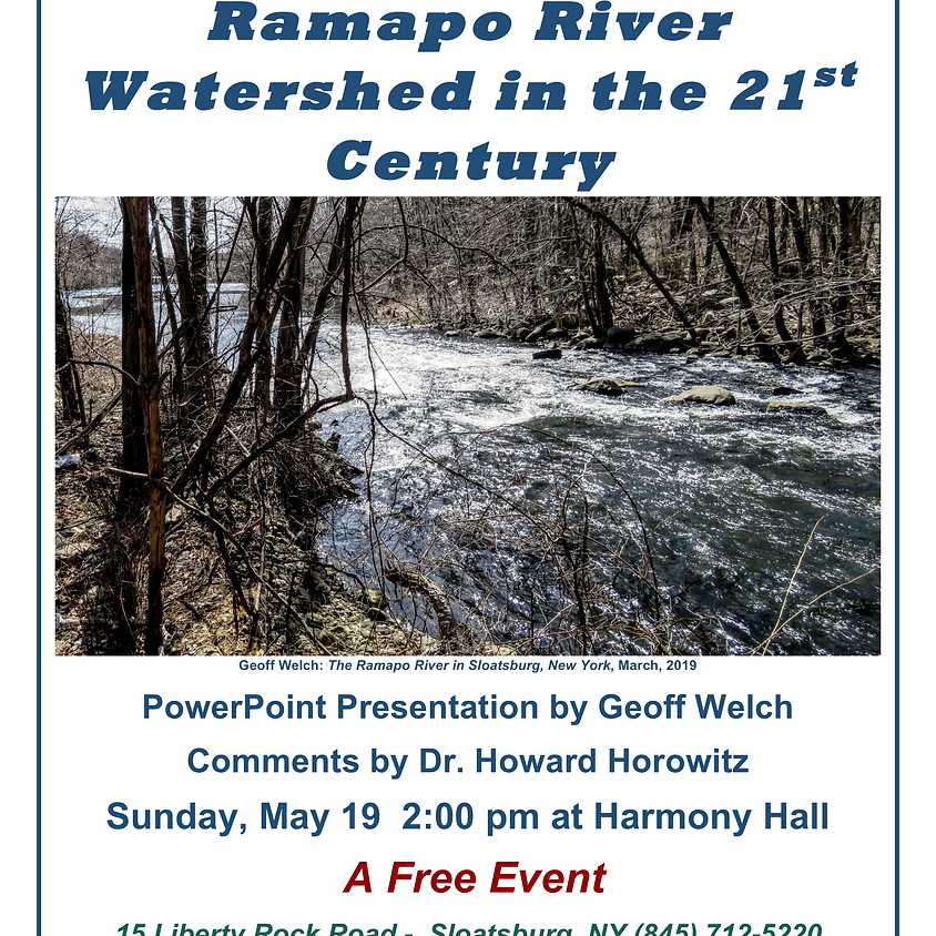 Protecting the Ramapo River Watershed!