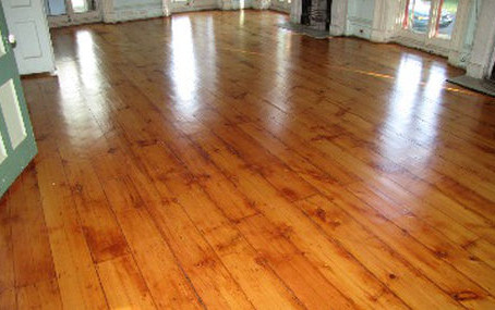 Harmony Hall's Magnificent 1848 Pine Floors Have Been Restored!
