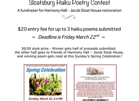 1st Haiku Poetry Contest!