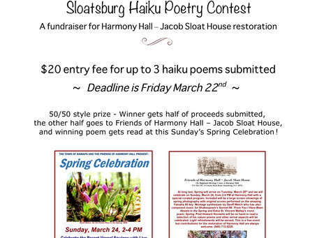 1st Haiku Poetry Contest!