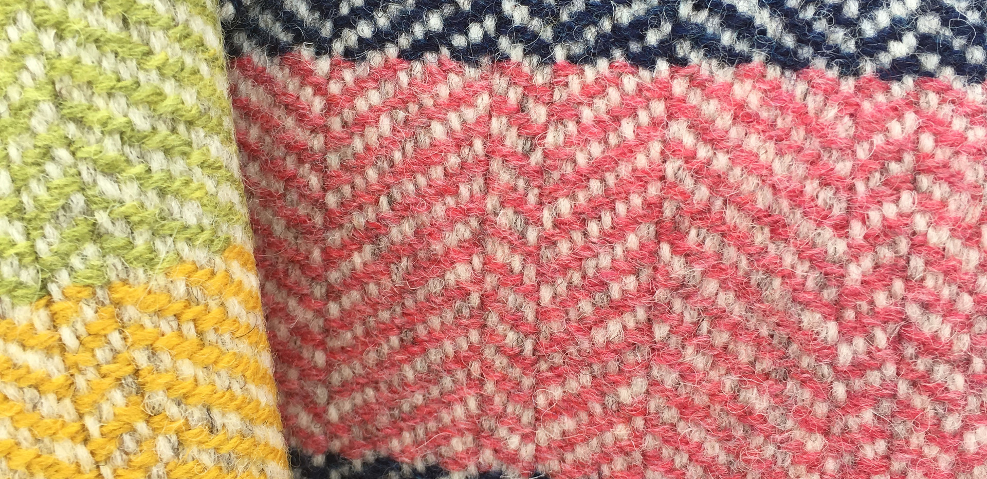 Stripes, White Wool Warp