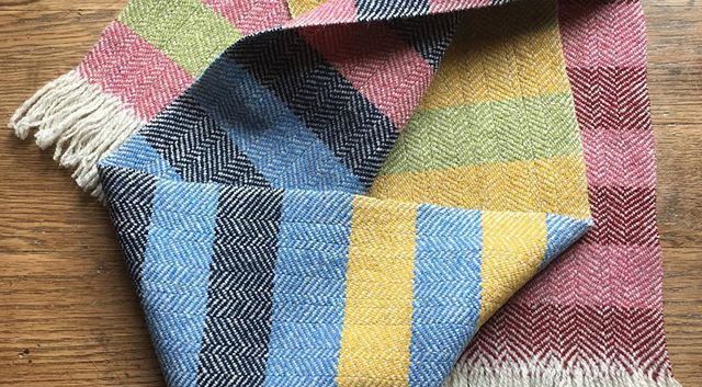 Stripe with 5 colors: Navy, Corn Flower, Yellow, Hopper Lopper, Pink, Red Maple