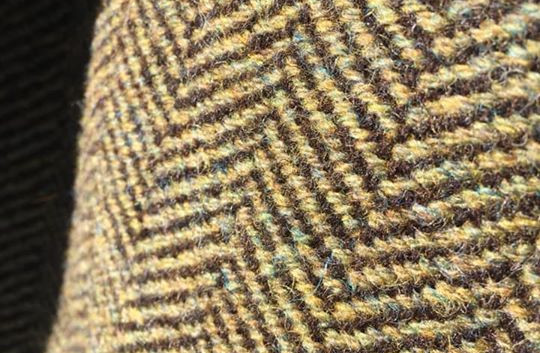 One Solid Color, Black Sheep's Wool Warp, Northern Moss