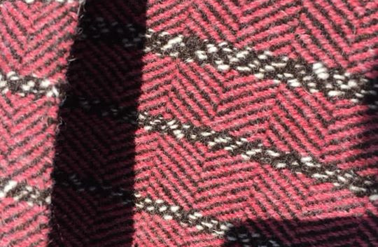 Random, Black Sheep's Wool Warp, Pink, Red Maple, (Other color not available)