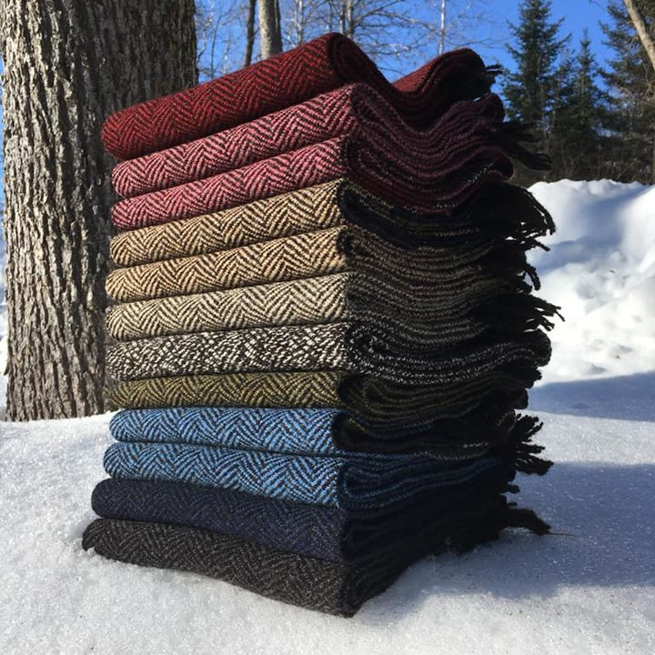 Black Sheep's Wool Scarves