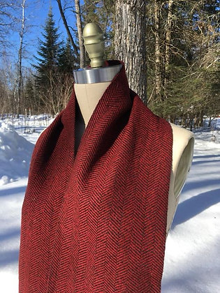 Hattersley Scarf: Ruby Red