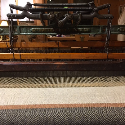 The first 12 inches of the shawl had just been woven.